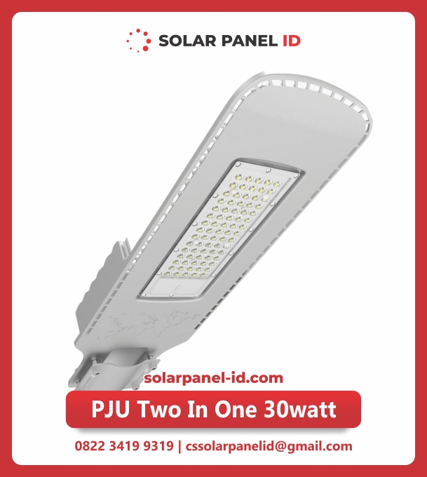 lampu jalan tenaga surya two in one 30watt
