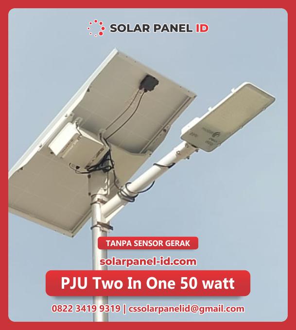 lampu jalan tenaga surya two in one 50watt