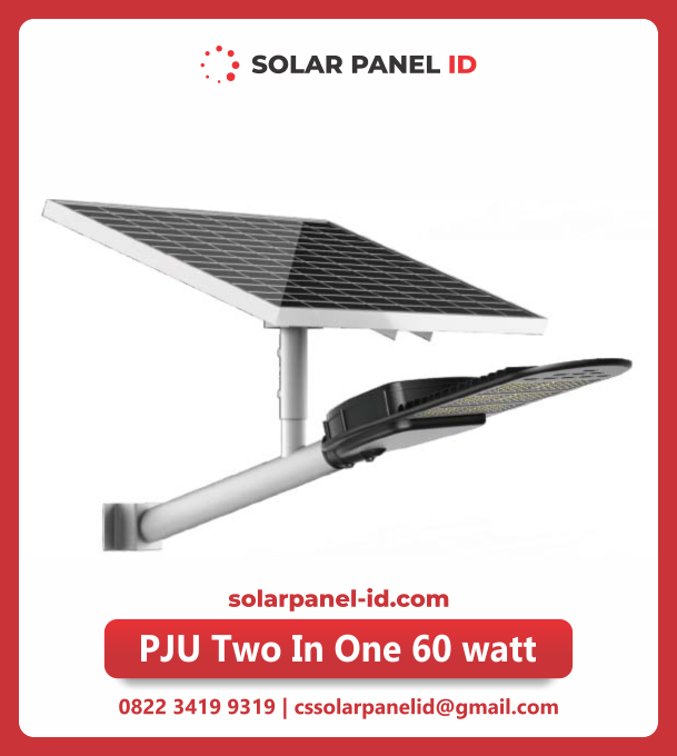 lampu jalan tenaga surya two in one 60watt