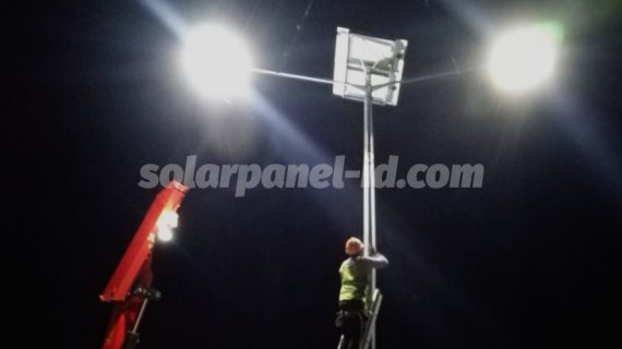 Pemasangan Lampu PJU Solarcell 2in1 Kendari