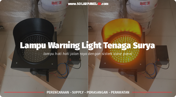 harga lampu led warning light tenaga surya