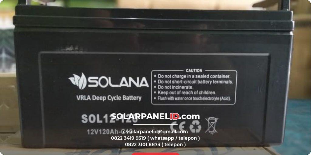 jual baterai vrla solana 12v 120ah murah