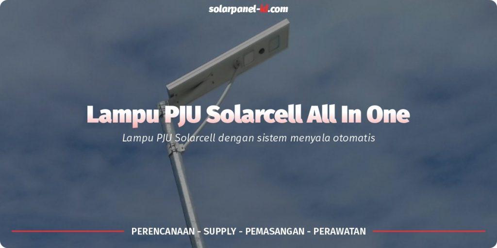 jual lampu jalan solarcell all in one 60watt bergaransi