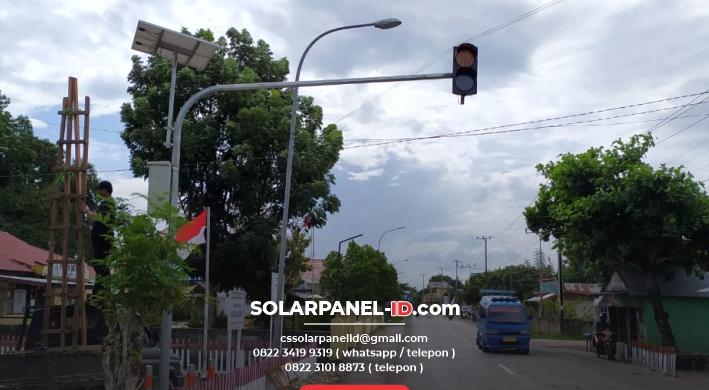 jual lampu warning light tenaga surya 2 aspek 20cm