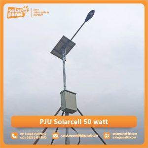 jual pju solarcell 50 watt