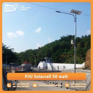 jual pju solarcell 50 watt murah