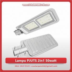 harga lampu pju tenaga surya 2in1 50 watt murah