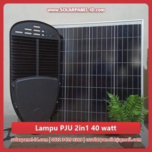 jual lampu jalan tenaga surya 2 in 1 40watt