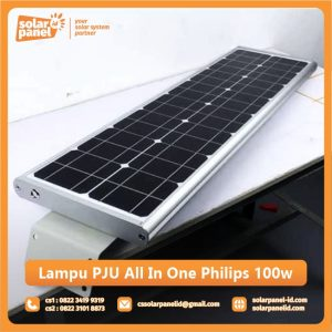 jual lampu pju all in one philips 100 watt murah