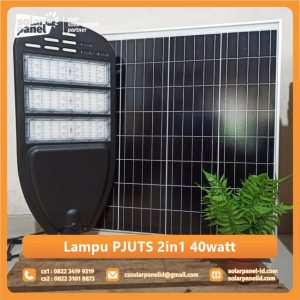 jual lampu pju tenaga surya 2in1 40 watt