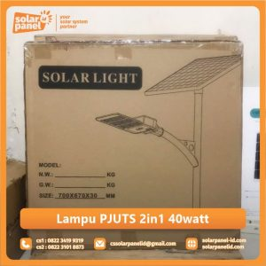 jual lampu pju tenaga surya 2in1 40 watt surabaya