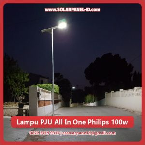 jual lampu pju tenaga surya all in one philips 100 watt murah surabaya