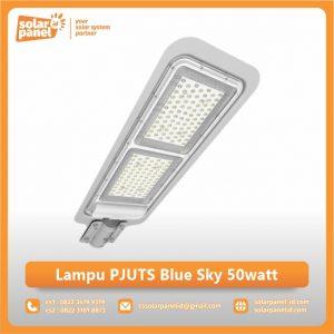 jual lampu pju tenaga surya blue sky 50 watt murah
