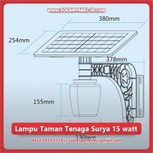 jual lampu taman tenaga surya 15 watt murah surabaya