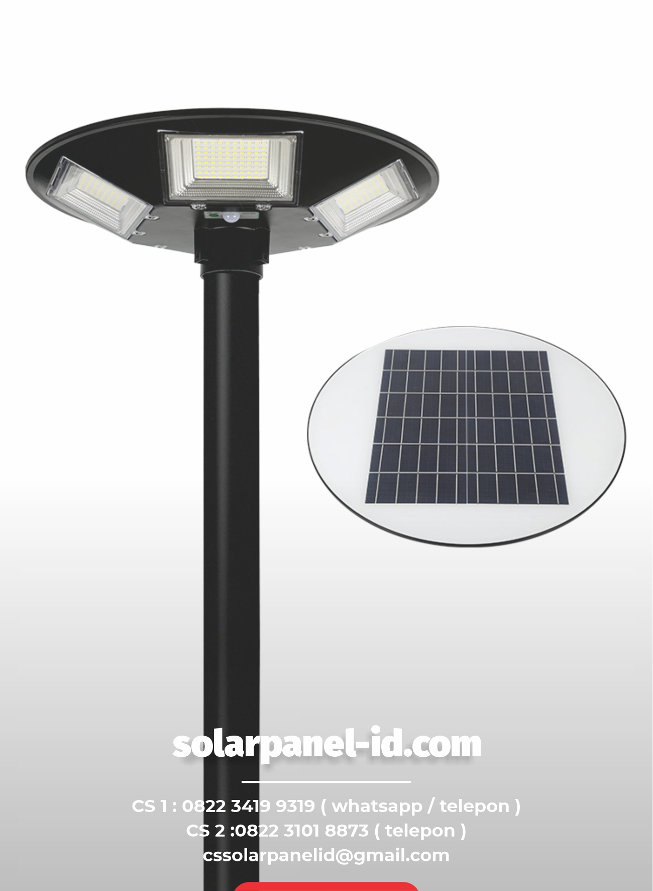 jual lampu taman tenaga surya 150 watt murah