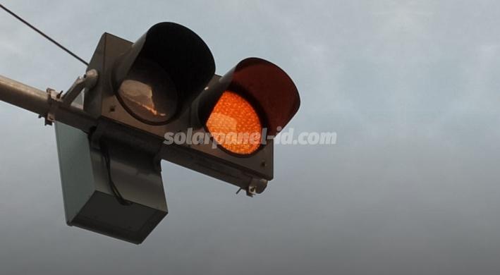 jual lampu warning light led solarcell 2 aspek 30cm