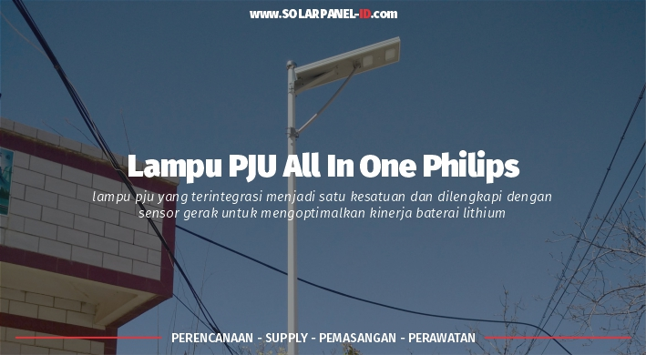 jual pju all in one philips 80 watt murah