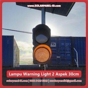 jual warning light tenaga surya 2 aspek 30cm murah