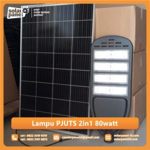 harga lampu jalan pju solarcell 2in1 80 watt murah