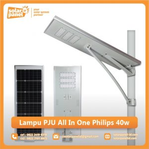jual lampu pju all in one philips 40 watt murah
