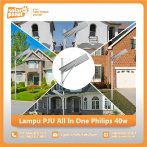 jual lampu pju all in one philips 40 watt murah surabaya