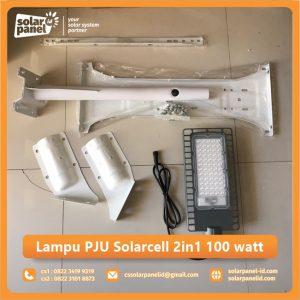 jual lampu pju solarcell 2in1 100 watt