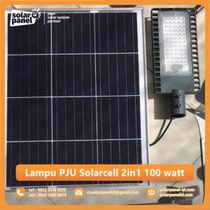 jual lampu pju solarcell 2in1 100 watt surabaya