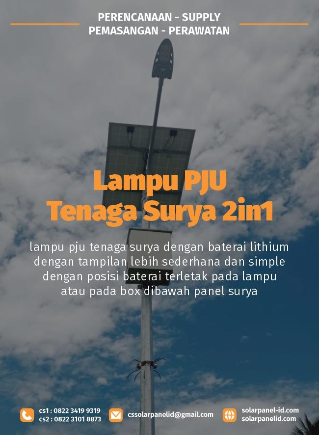 jual lampu pju tenaga surya 2in1 osram 60 watt satu set