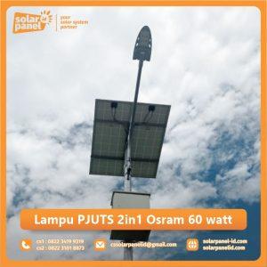 jual lampu pju tenaga surya 2in1 osram 60 watt surabaya