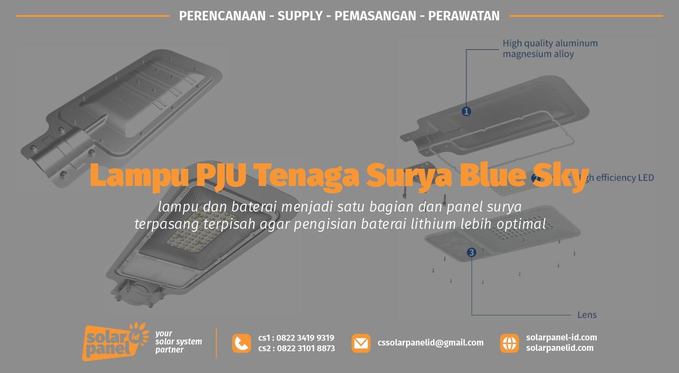 jual lampu pju tenaga surya blue sky 50 watt murah surabaya