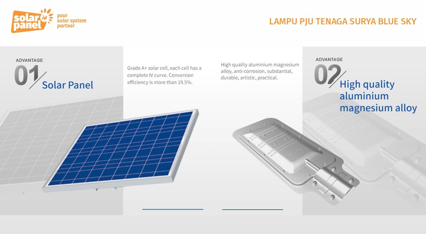 jual lampu pju tenaga surya blue sky 70 watt murah