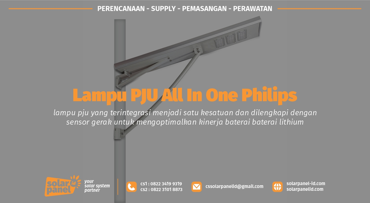 jual pju all in one philips 40 watt murah