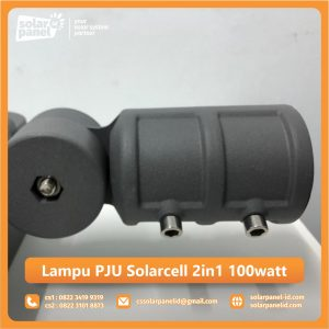 jual lampu pju solarcell 2in1 100 watt satu set surabaya