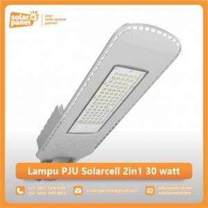 jual lampu pju solarcell 2in1 30 watt