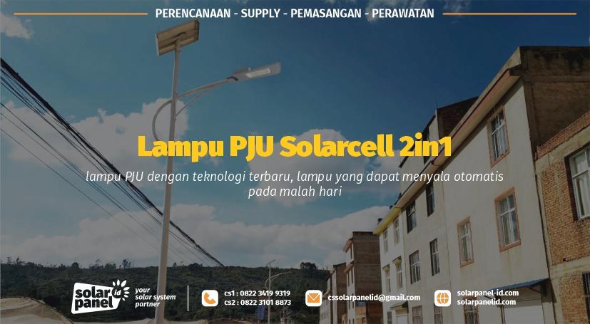 jual lampu pju solarcell 2in1 30 watt surabaya
