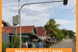 Paket Lampu Warning Light Tenaga Surya 2 Aspek