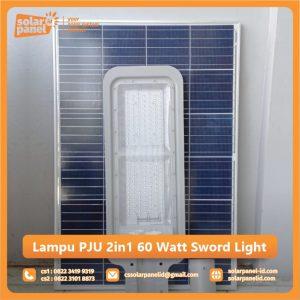 jual lampu pju 2in1 60 watt sword light