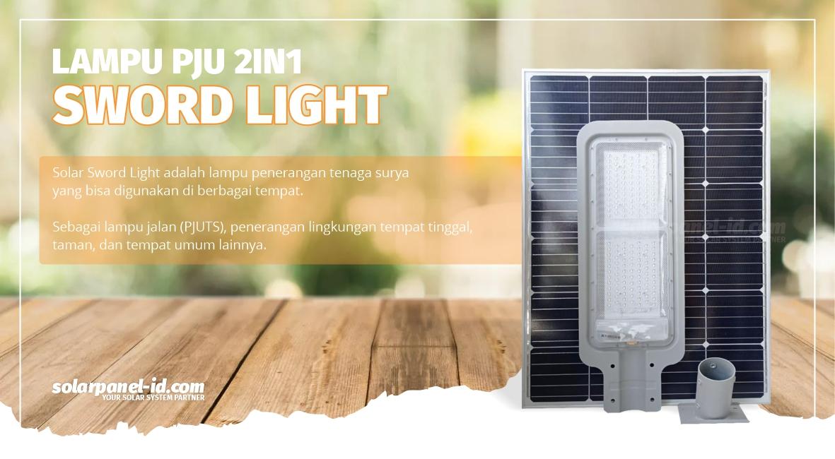 jual lampu pju 2in1 60 watt sword light bergaransi