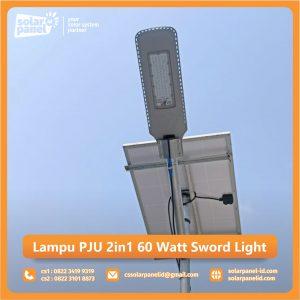jual lampu pju 2in1 60 watt sword light murah