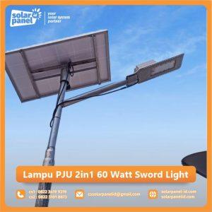 jual lampu pju 2in1 60 watt sword light surabaya