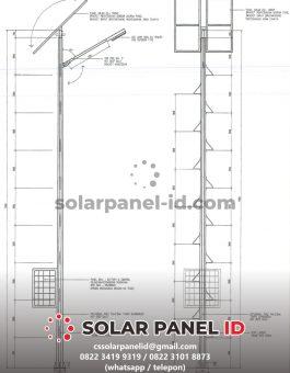 gambar tiang pju tenaga surya